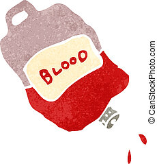 retro cartoon bag of blood