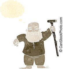 retro cartoon biblical style man