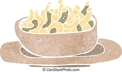 retro cartoon bowl of noodles