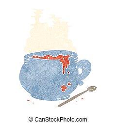 retro cartoon bowl of soup