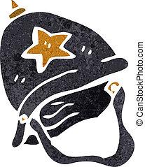 retro cartoon British policeman helmet