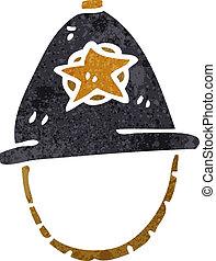retro cartoon british policman's helmet