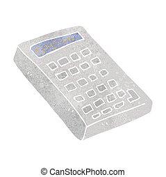retro cartoon calculator - freehand retro cartoon calculator