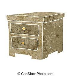 retro cartoon chest of drawers