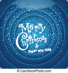 Retro cartoon Christmas background. Merry Christmas and Happy Ne