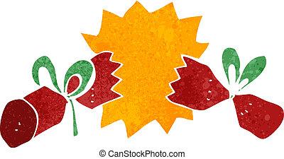 retro cartoon christmas cracker