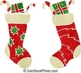 retro cartoon christmas stockings