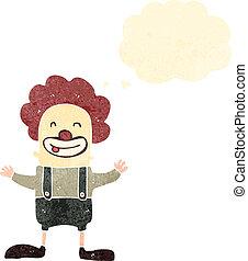 retro cartoon circus clown