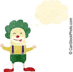 retro cartoon clown