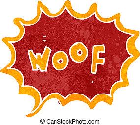 retro cartoon comic book woof - Retro cartoon illustration....