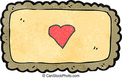 retro cartoon decorative frame with love heart