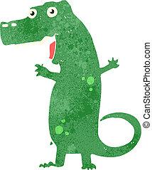 retro cartoon dinosaur - Retro cartoon illustration. On...