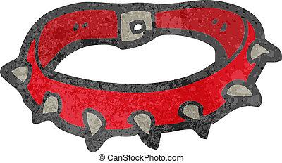 retro cartoon dog collar