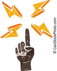 retro cartoon finger pointing
