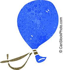 retro cartoon, floating balloon character