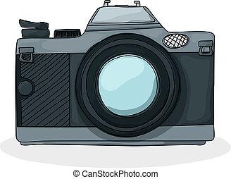 Retro cartoon foto camera - Retro style cartoon photo camera...