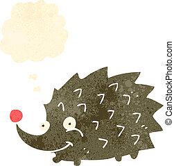 retro cartoon funny hedgehog