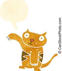 retro cartoon funny little cat