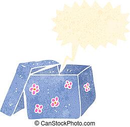 retro cartoon gift box