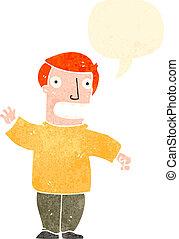 retro cartoon ginger man