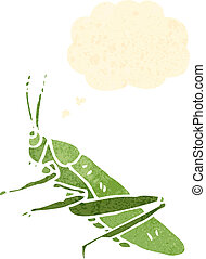 retro cartoon grasshopper