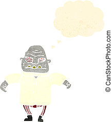 retro cartoon halloween monster