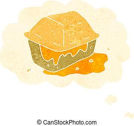 retro cartoon junk food