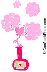 retro cartoon love potion
