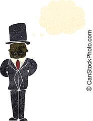 retro cartoon man in posh suit