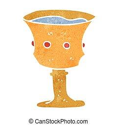 retro cartoon medieval cup