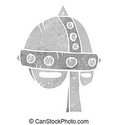 retro cartoon medieval helmet