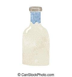 retro cartoon milk bottle