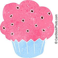 retro cartoon muffin
