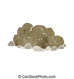 retro cartoon pile of dirt - freehand retro cartoon pile of...