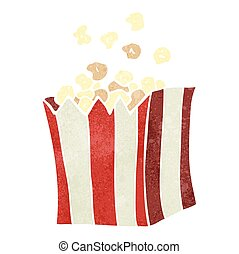 retro cartoon popcorn