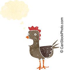 retro cartoon rooster
