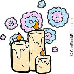 retro cartoon scented candles