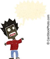 retro cartoon shouting man