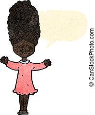 retro cartoon singing woman