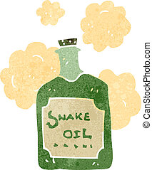 retro cartoon snake oil