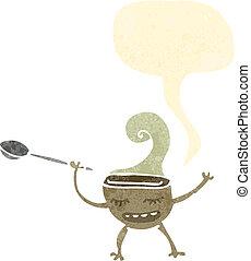 retro cartoon soup bowl
