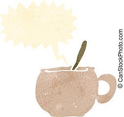 retro cartoon soup mug