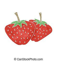 retro cartoon strawberries