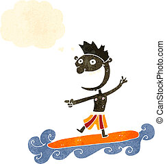 retro cartoon surfer dude