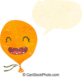 retro cartoon talking balloon