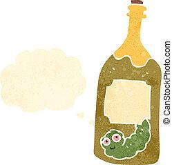retro cartoon tequila bottle