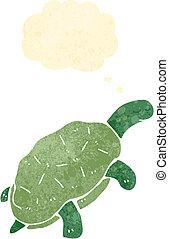 retro cartoon turtle