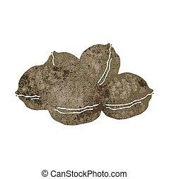 retro cartoon walnuts