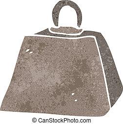 retro cartoon weight symbol