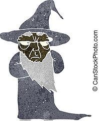 retro cartoon wizard